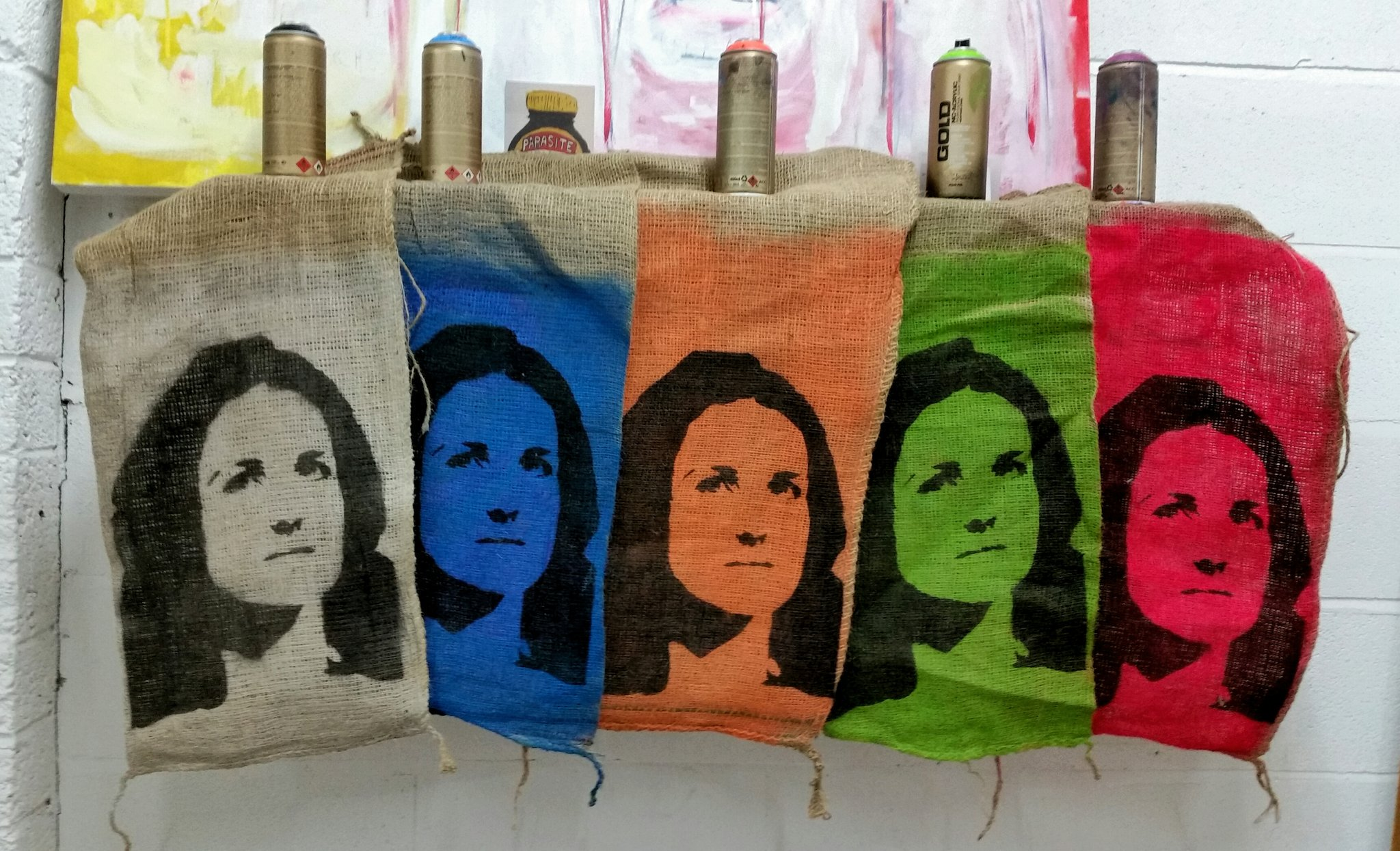 Tory Sandbags (Theresa Villiers) by Stephen Millar, Creative Exchange studio artist